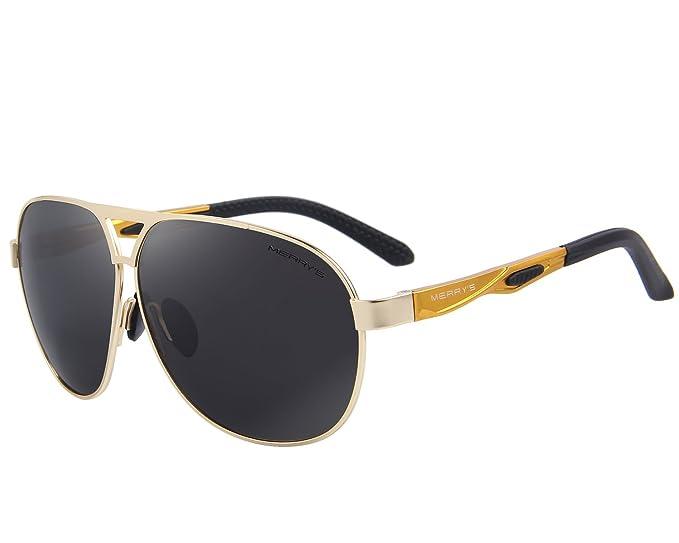 MERRYS Feliz de los hombres Classic marca HD gafas de sol ...