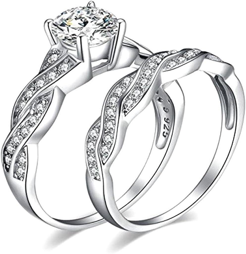 Amazon Com Womens Rings Lamolory Anniversary Promise Wedding