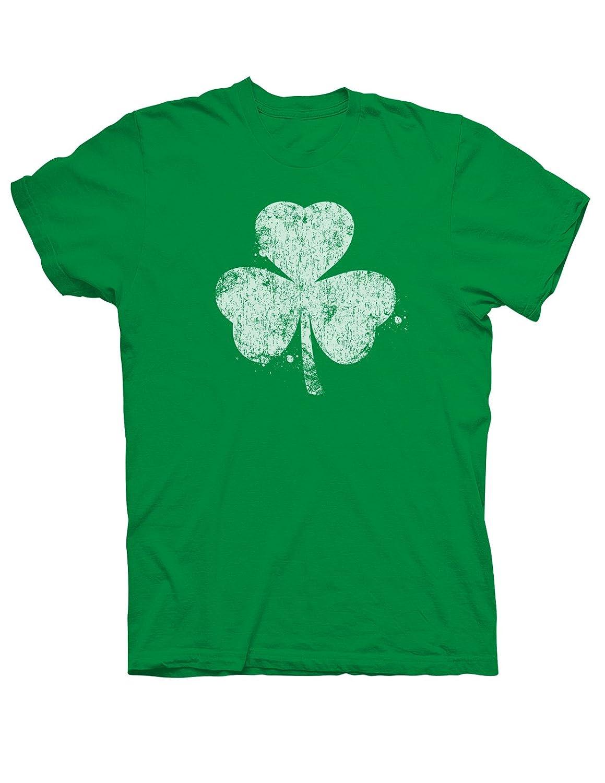 amazon com distressed shamrock irish t shirt clothing