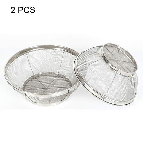 2 PCS Grande Colador Microperforado de acero Inoxidable ...