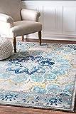 nuLOOM Floral Kiyoko Area Rug, 9' x 12', Blue