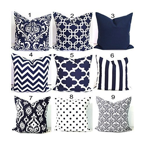 Amazoncom Navy Blue Pillow Cover Throw Pillow Cover Blue Throw
