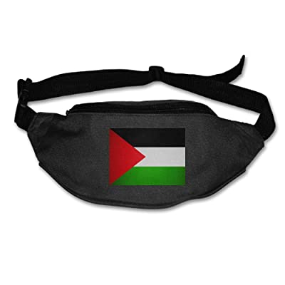 Palestinian Flag Unisex Waist Packs Adjustable Outdoor Running Sport Hiking Fanny Packs Wallet