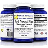 Premium Red Yeast Rice – Max Potency 1800 mg, 180 Vegetarian Capsules – for Healthy Cholesterol Levels and Cardiovascular Support For Sale