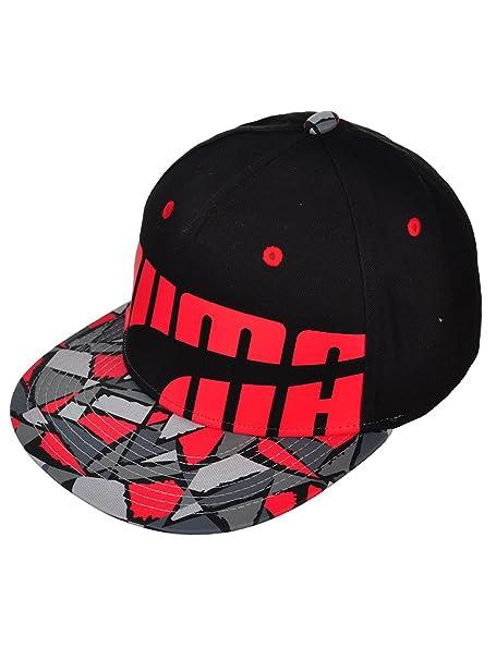 66af6bd51aa PUMA Snapback Cap - Black red