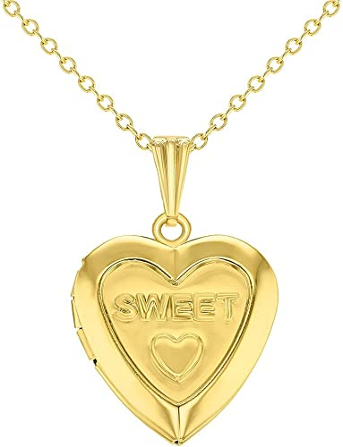 Amazon Com In Season Jewelry Gold Tone Sweet Love Heart Small
