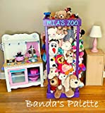 2', 32'', 3', 4' Personalized Stuffed Animal Zoo, Wood Animal Holder, Storage, Stuffed Animal Organizer, Kids Gifts, Ball Storage, Birthday Gift, Stuffed Animal Storage, Zoo Keeper
