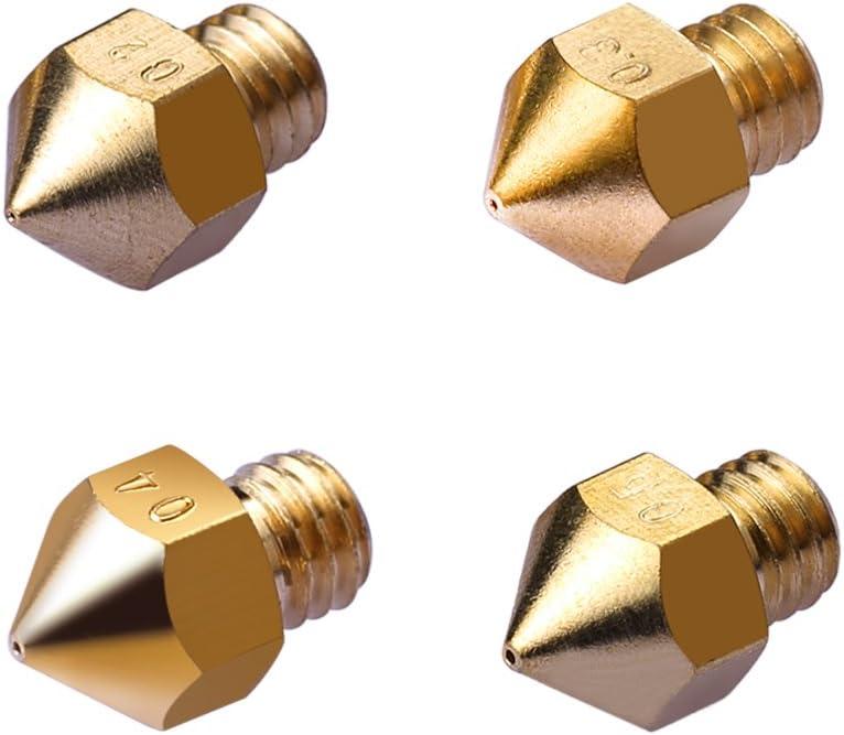 5 pi/èces UEETEK 0.4 mm extrudeuse laiton buses pour imprimante 3D professionnel