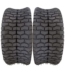 Two Turf Tires 16x6.50-8 16/6.50-8 16-6.50-8 16x6.50x8 4ply Lawn & Garden Mower Tractor Cart Tires