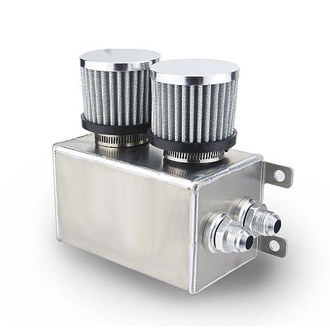 Heinmo - Depósito de depósito de aceite de coche con filtro de aire de aluminio,