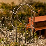 Whimsical Additions Pair of Vintage Look Garden Arches with Movable Gate Opening for Fairy Gardens or Gnome Villages