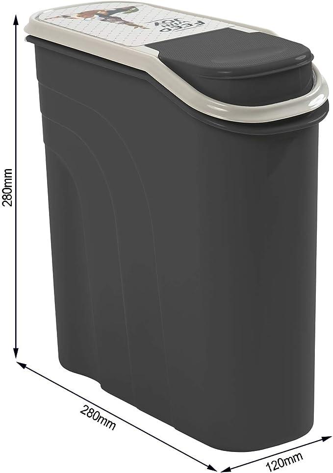 Rotho Filo, Caja de almacenamiento de comida para mascotas 6l con paracaídas, Plástico PP sin BPA, antracita, motivo, 6l 28.0 x 12.0 x 28.0 cm: Amazon.es: Productos para mascotas