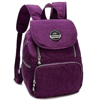 7f9916bcf5e7 LifeWheel Womens Girls Waterproof Mini Backpack Nylon Bags Daypacks  Schoolbag Rucksacks  Amazon.in  Bags