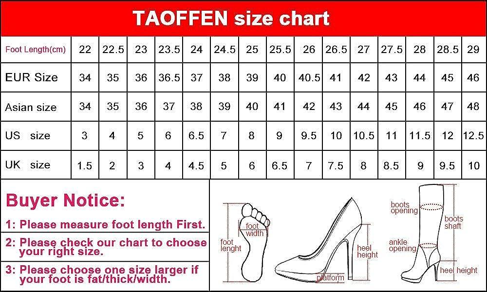 TAOFFEN Stiefel Damen Damen Damen Thigh High Stiefel Reißverschluss 5f4ec9
