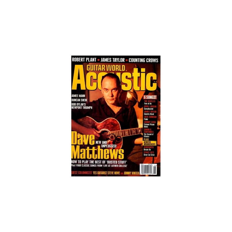 Dave Matthews, Robert Plant Guitar World Acoustic Magazine. Books