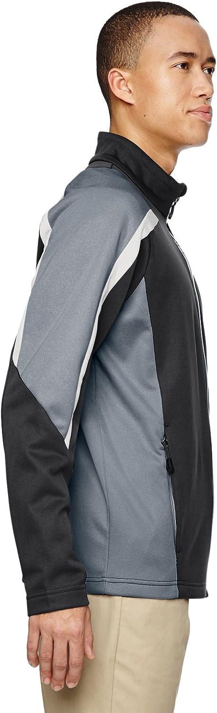 North End Mens Strike Colour-Block Fleece Jackets 88201 -CARBON 456-2XL