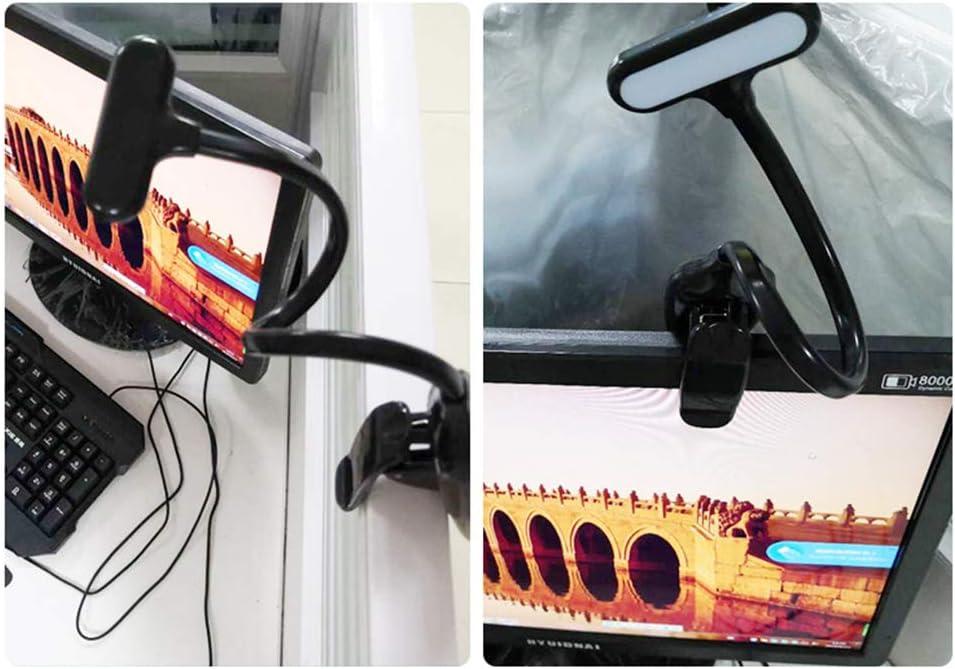 LED Klemmleuchten USB Dimmbar Augenpflege Flexibel Neben Klemmlampe Led Leselicht f/ür Kinder Studenten