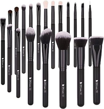 DUcare Brochas de Maquillaje 20 Piezas Premium Brochas Maquillaje Cerdas de Fibra Sintética Suaves y sin Crueldad kit Brochas Maquillaje: Amazon.es: Belleza