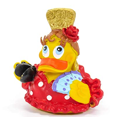 Flemeca Spanish Dancer Rubber Duck Bath Toy | All Natural, Organic, Eco Friendly, Squeaker | Imported from Barcelona, Spain : Baby [5Bkhe1805883]