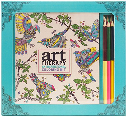 Art Therapy: An Inspirational Coloring Kit (Deluxe kit with pencils) -