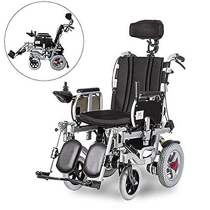 Plegable Eléctrico Silla De Cuatro Ruedas Scooter Eléctrico Ancianos Minusválidos Médico Plegable Portátil Ancianos Scooter Plata