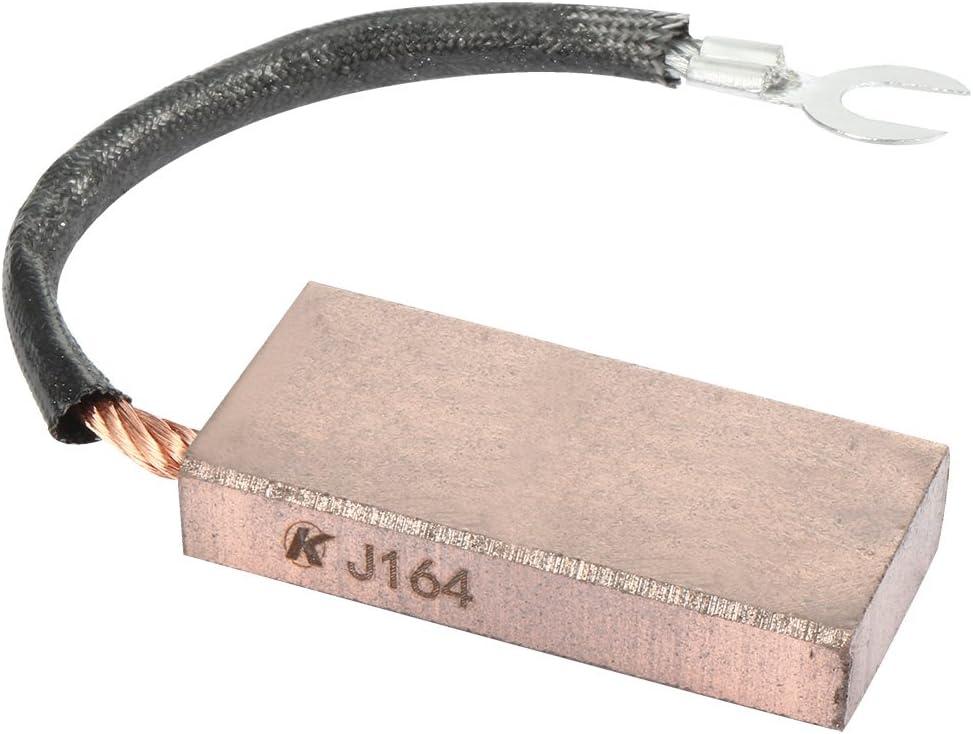 sourcingmap® J164 10mmx25mmx50mm Escobillas de carbón para el Motor de la grúa cable solo 90% de cobre