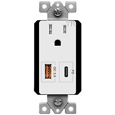 USB c PD 1pack USB C Outlet with Power Delivery Duplex Receptacle 4.8A