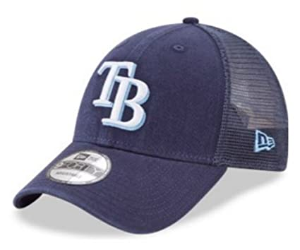 b439586c6 New Era MLB Tampa Bay Rays Baseball Hat Cap 940 Trucker Snapback 11591190  Navy