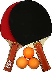 Juego De 2 Jugadores De Tenis De Mesa (2 Bates Y 3 Pelotas) (perfecto Para La Escuela, El Hogar, El Club Deportivo, La Oficina): Amazon.es: Juguetes y juegos