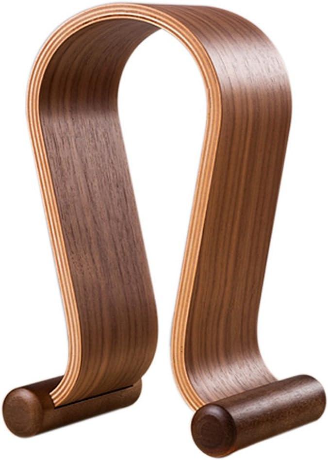 SAMDI Wooden Walnut Wood Omega Headphone Gaming Headset Display Stand Holder Hanger