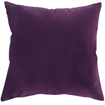 Deconovo Decorative Cushion Cover For Boys Velvet Square Throw 18x18 Inch Purple
