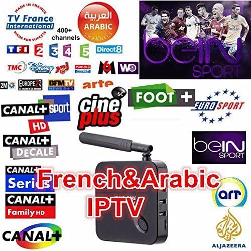 MU gratuito Árabe TV Box Receptor IPTV Canales árabes gratuitas Bein cielo deportes de Al Jazeera Sports MBC cuadro iptv árabe Android HD: Amazon.es: Electrónica