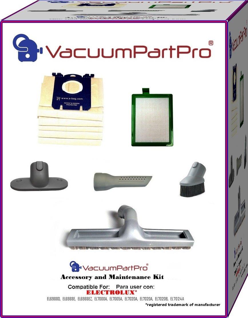 Electrolux Canister Models EL6988D, EL6988E, EL6988EZ, EL7000A, EL7005A, EL7020A, EL7020B, EL7024A Accessory and Maintenance Kit Manufactured By Vacuum Part Pro