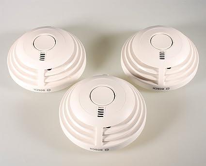3 x Bosch Detector Ferion 1000 o con 10 años de iones de batería fuego Detector