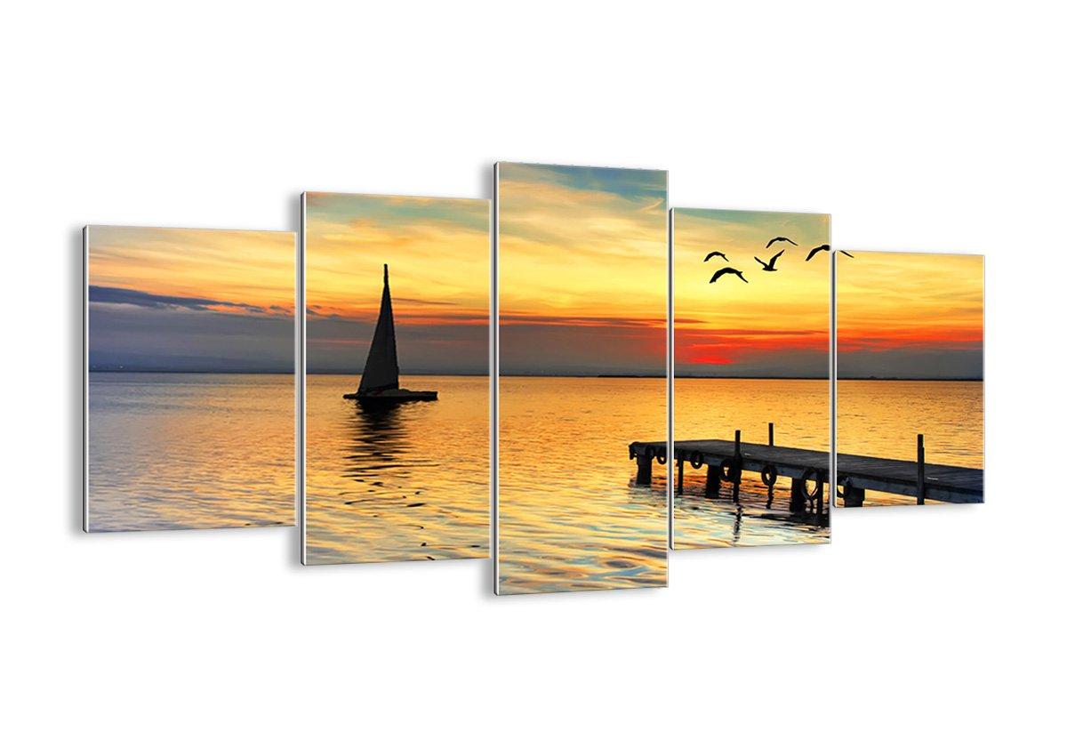 Bild auf Glas - Glasbilder - fünf Teile - Breite  160cm, Höhe  85cm - Bildnummer 2535 - fünfteilig - mehrteilig - zum Aufhängen bereit - Bilder - Kunstdruck - GEA160x85-2535