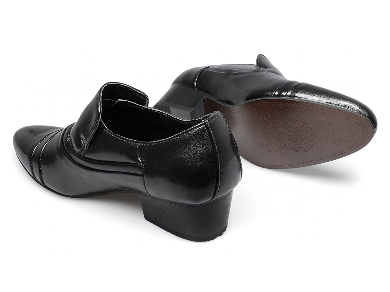 Mens JANUS Faux Leather Cuban Heel Shoes Black UK 7: Amazon.co.uk: Shoes &  Bags