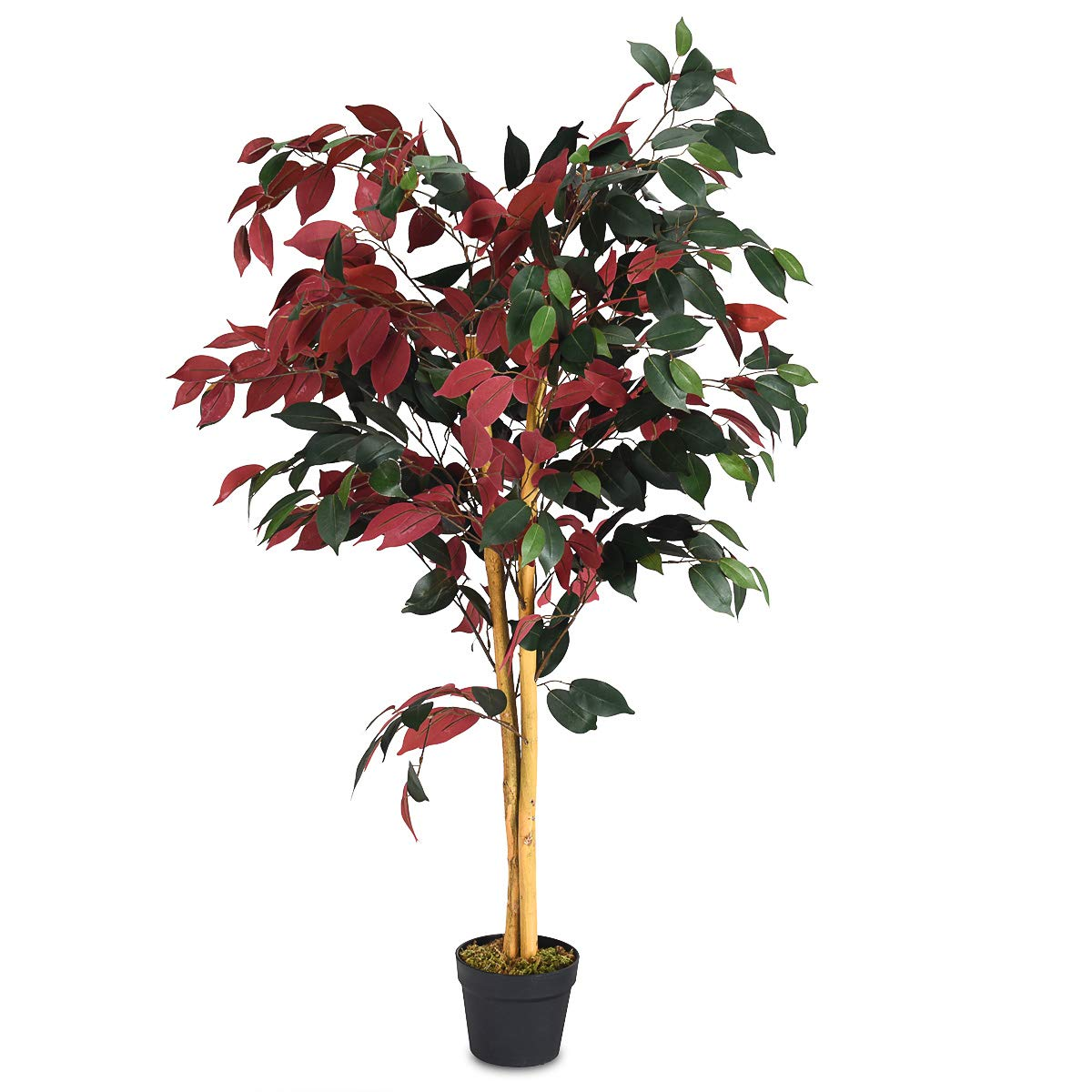 BestComfort Natural Greener Artificial Silk Tree, Decorative Indoor House Plant,Artificial Leafy Tree for Home Decor