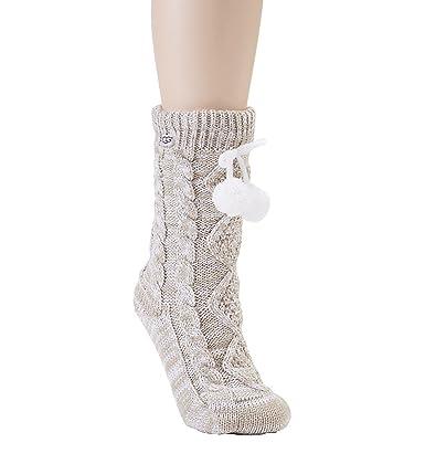 UGG Women's Pom Pom Fleece Lined Crew Socks