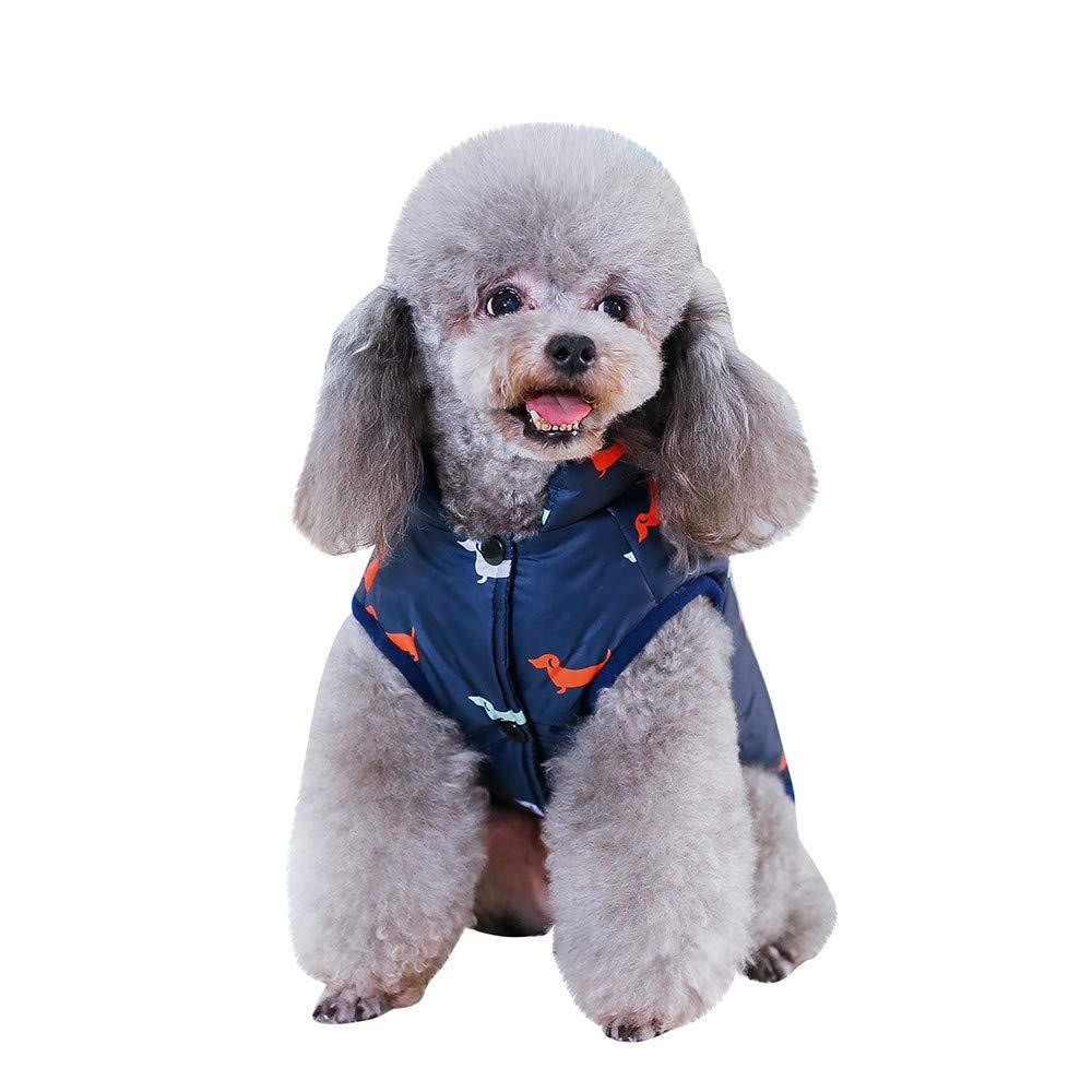 Fossrn Invierno Ropa Perro Pequeño Chihuahua Yorkshire Abrigo de Chaqueta Mascota Chaleco de Botón S~ XXL: Amazon.es: Productos para mascotas