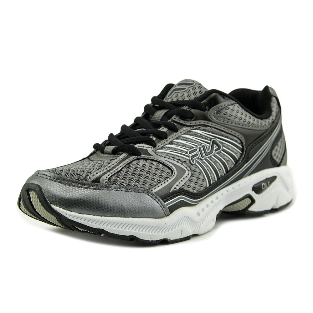 Fila Women's Inspell Running Shoe, Dark Silver/Black/Metallic Silver, 8.5 M US
