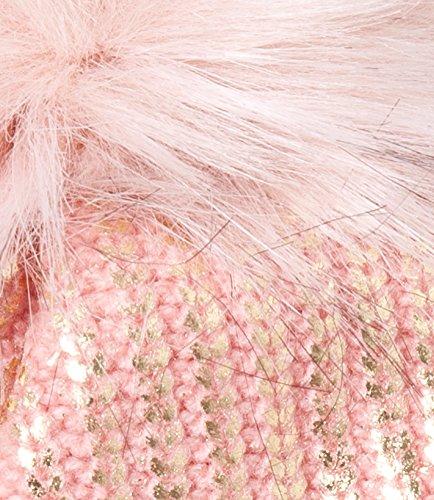 Pom Accessoryo Chapeau Rose Moucheté Féminin Beanie Avec wURCUnqa4