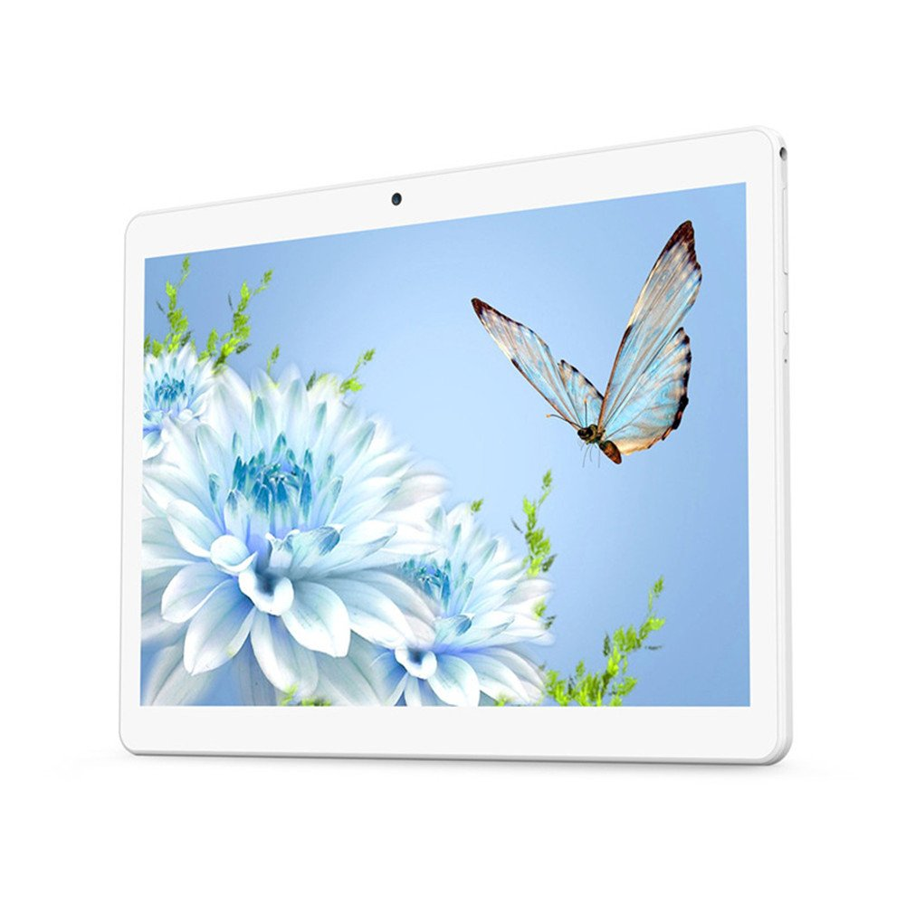 "YELLYOUTH Android Tablet 10 inch with Dual Sim Card Slots 10.1"" IPS MTK Octa Core 4GB RAM 64GB ROM WiFi Bluetooth GPS 3G Unlocked Phone Tablet PC (Silver)"