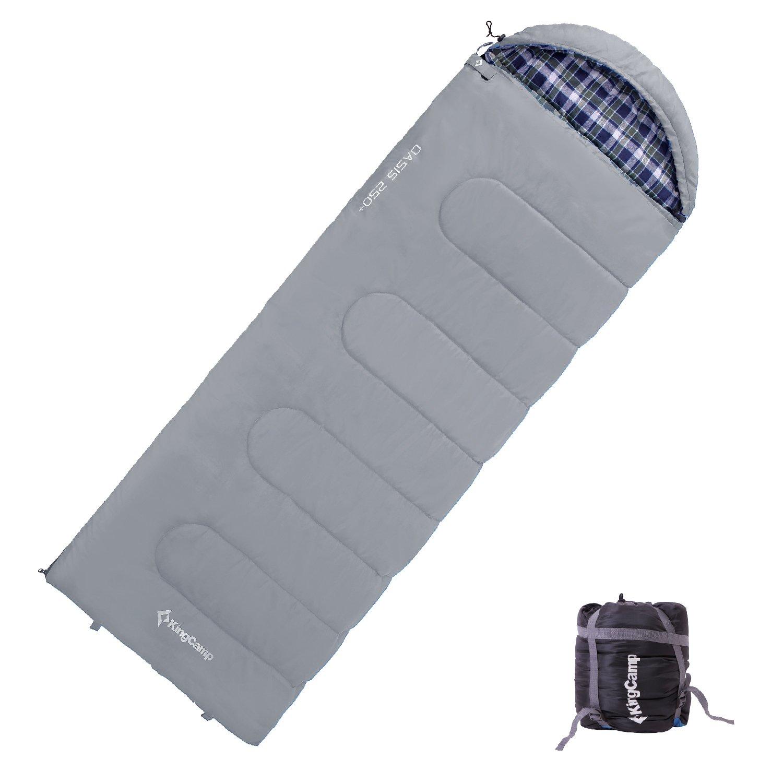 KINGCAMP Decken Schlafsack XL 100/% Baumwolle Flanell Camping Lang /& Breit 25°C
