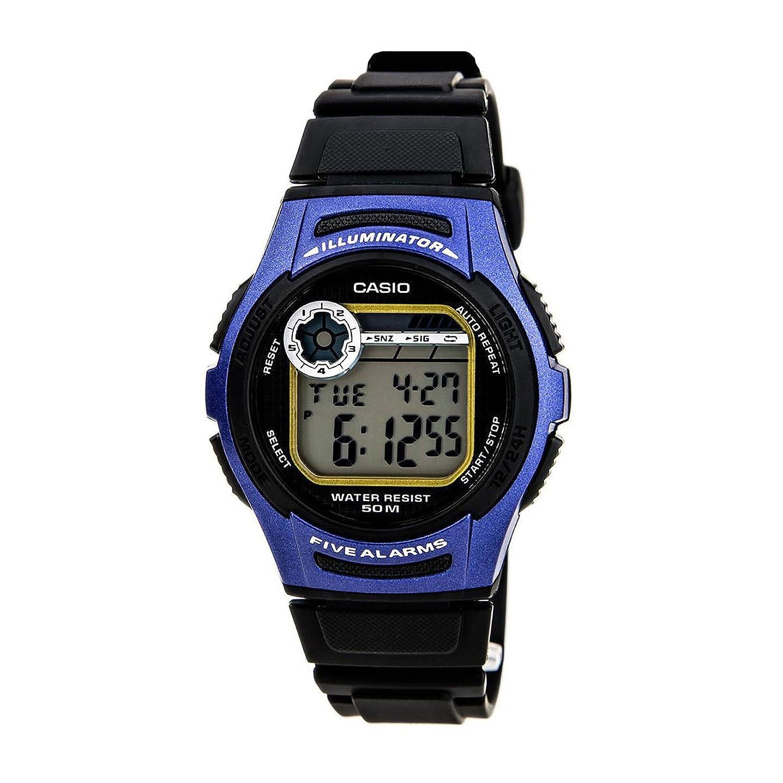 チープカシオ デジタル腕時計  W-213-2A/W213-2A スタンダード  メンズウォッチ