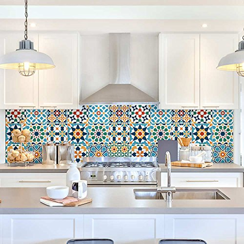 wall art PS00112-P – Decorative Tile Adhesive for Bathroom and Kitchen Tile Stickers – Tile Adhesive, vinyl, 15×15 cm…