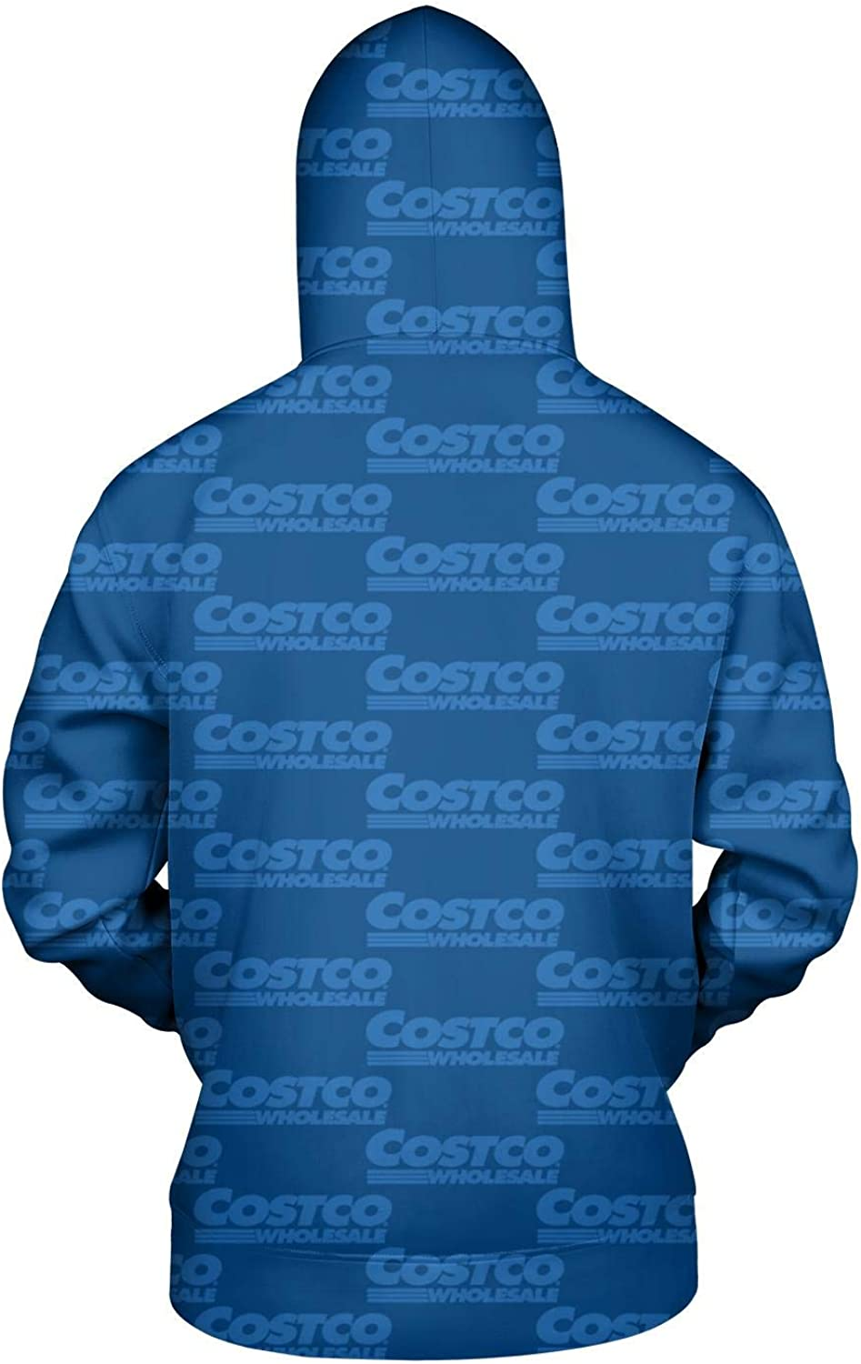 ZTUO Costco-Cool-Wholesale-Sale-Items-Blue 3D Printed Mens Hoodie Funny Big Pockets Hooded Sweatshirt