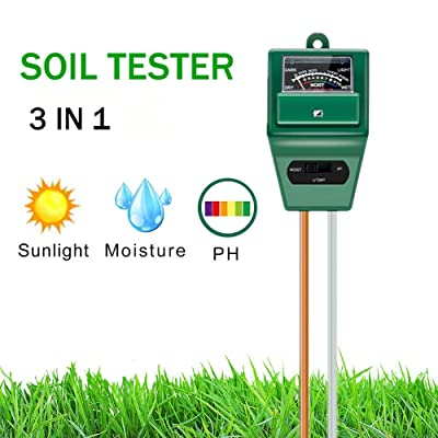 Hofun Soil pH Meter, 3-in-1 Soil Moisture/Light/pH Tester Gardening Tool Kits for Plant Care, Great for Garden, Lawn, Farm, Indoor & Outdoor Use: Industrial & Scientific