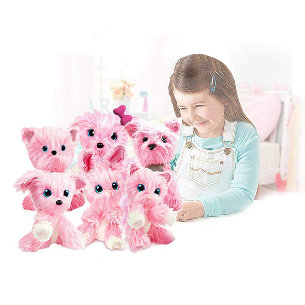 AOLVO Plush Mystery Rescue Pet, Cute Puppy Puppy Toys For Baby Toddlers Kids, Best Birthday, Shower, Festival Gift (tamaño Aleatorio/Rosa): Amazon.es: ...