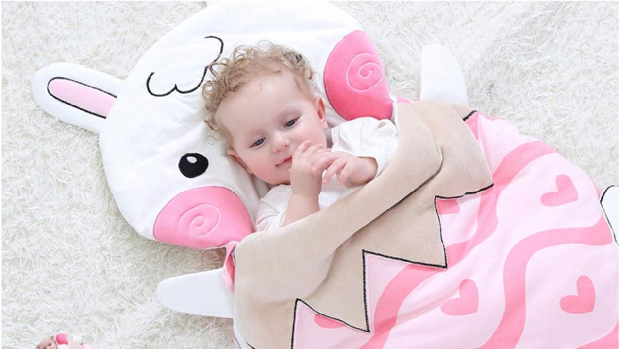 Saco de dormir para dormir Doladola dise/ño de animales de dibujos animados de 0 a 2 a/ños conejo Talla:talla /única 100/% algod/ón org/ánico