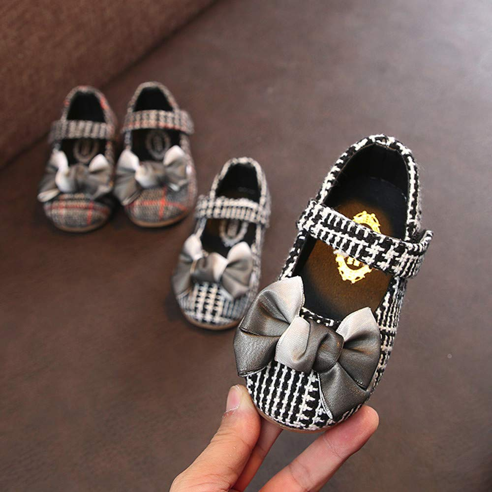 Lurryly❤Kids Casual Shoes for Girls Bowknot Princess Single Shoe Sneaker Toddler//Little Kid